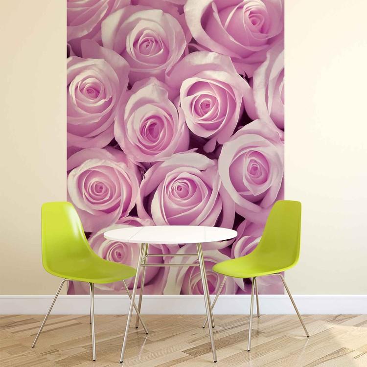 Wallpaper Mural Pink Roses