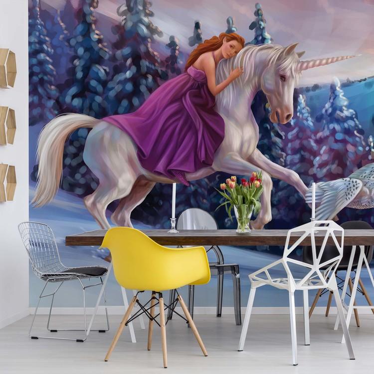 Wallpaper Mural Princess Unicorn