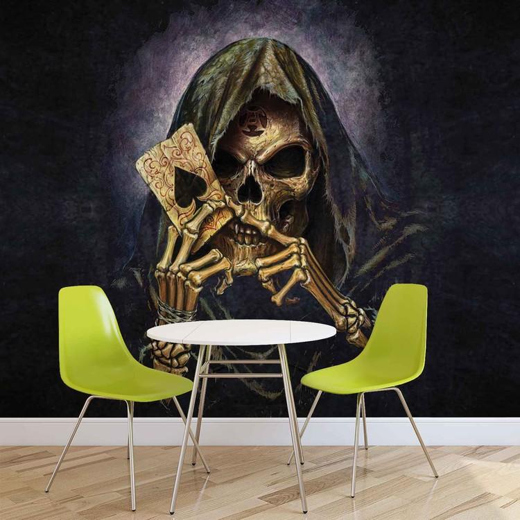 Wallpaper Mural Skull Death Ace Alchemy