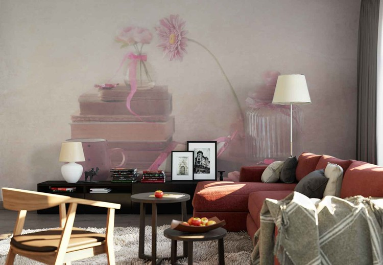 Wallpaper Mural Think Pink