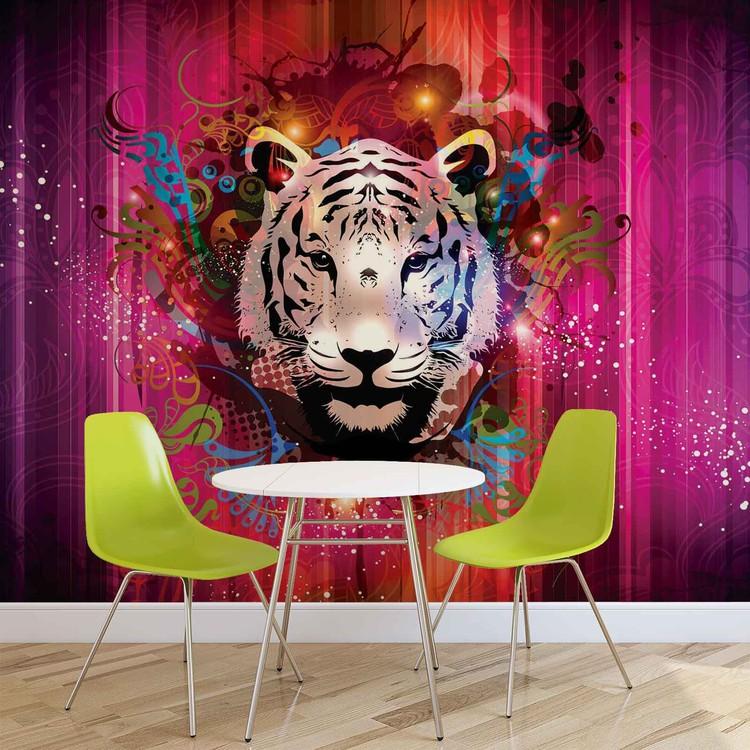 Wallpaper Mural Tiger Abstract