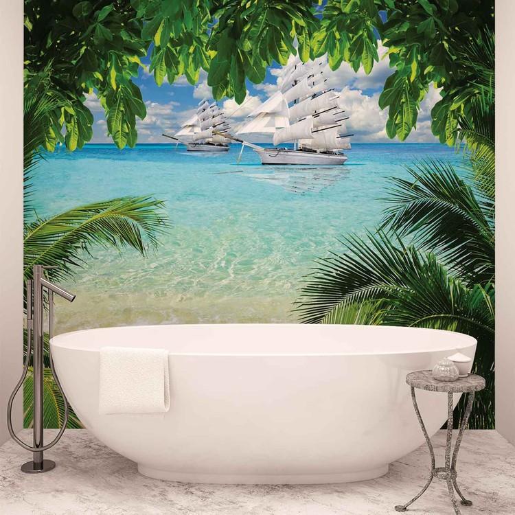 Wallpaper Mural Tropical Beach Island