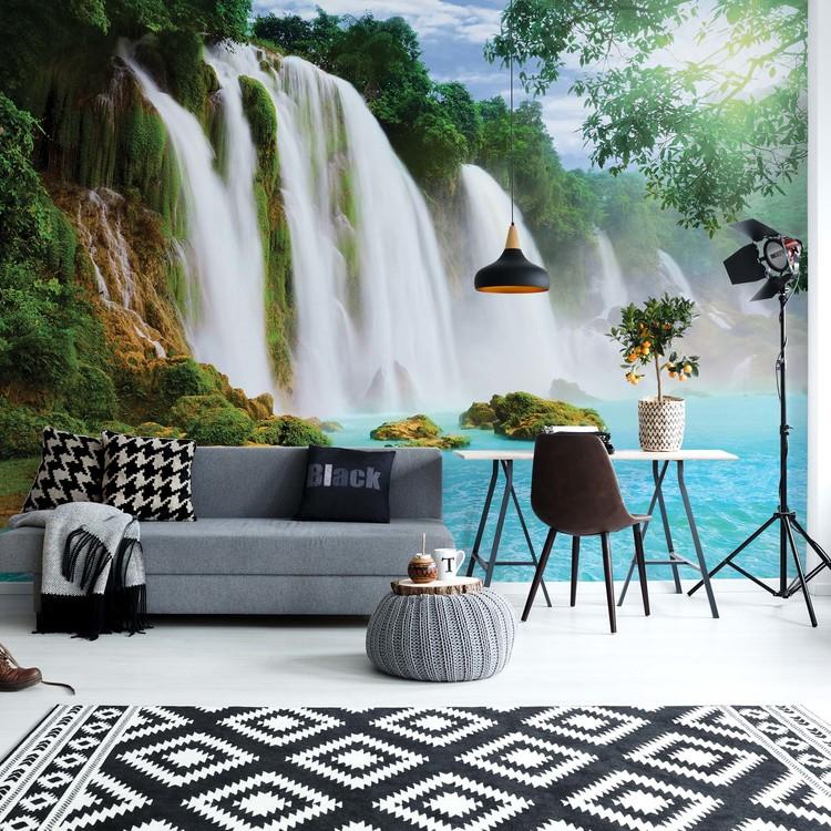 Wallpaper Mural Waterfall Lake