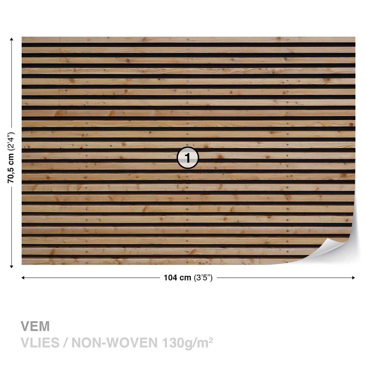 Wallpaper Mural Wood Slats