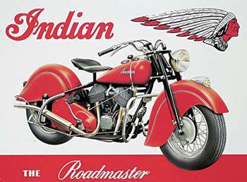 INDIAN ROADMASTER Plaque métal décorée