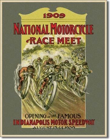 INDY 500 - motorcycle race Plaque métal décorée