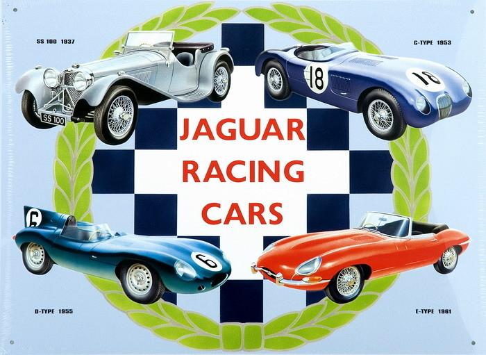 JAGUAR RACING CARS COLLAGE Panneau Mural