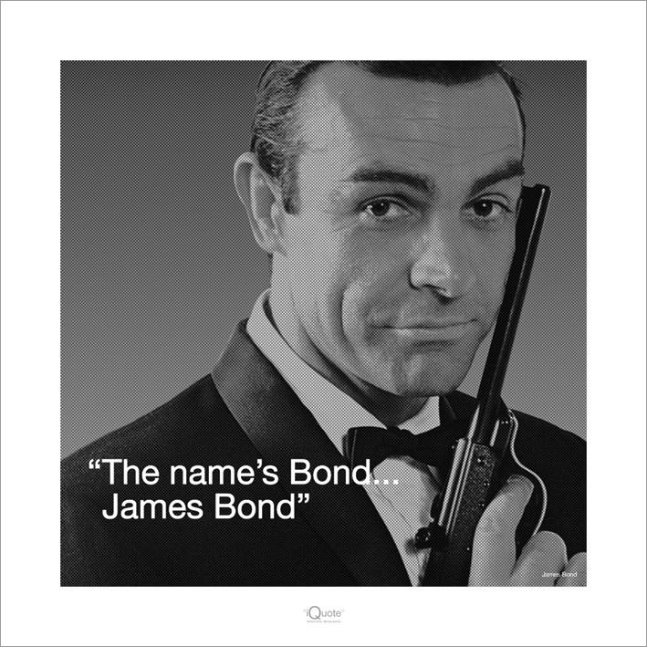 James Bond 007 - Iquote  Reproduction d'art