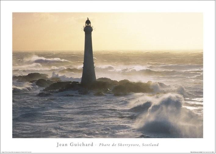 Jean Guichard - Phare De Skerryvore, Scotland Reproduction d'art