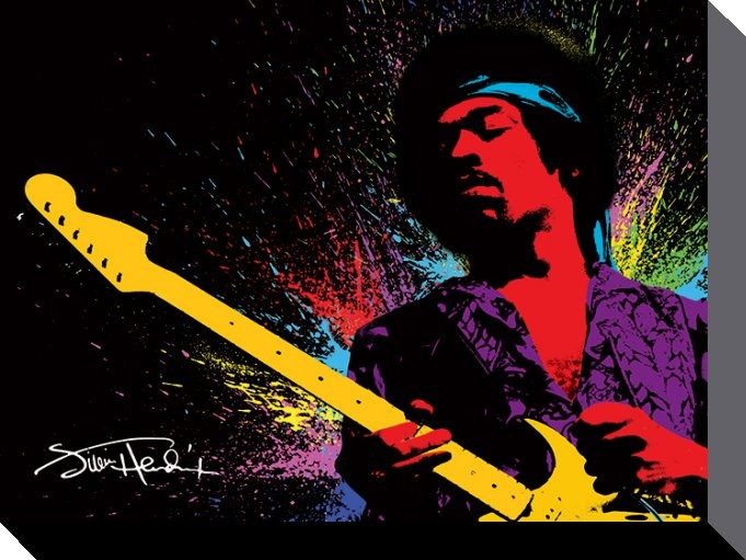 Jimi Hendrix - Paint - Canvas Print