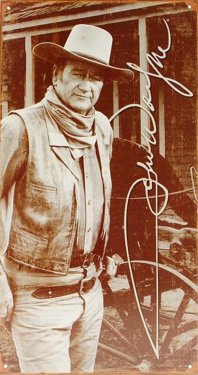 JOHN WAYNE Plaque métal décorée