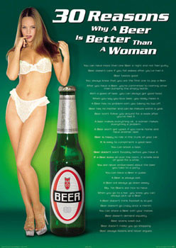 Juliste 30 Reasons - Beer/woman