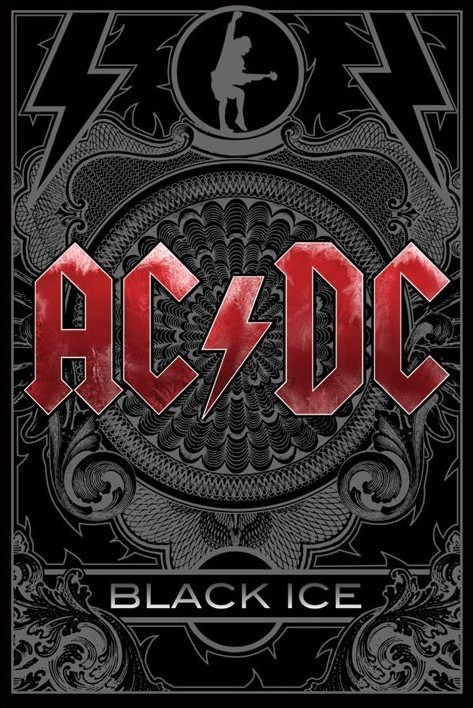 Juliste AC/DC - black ice