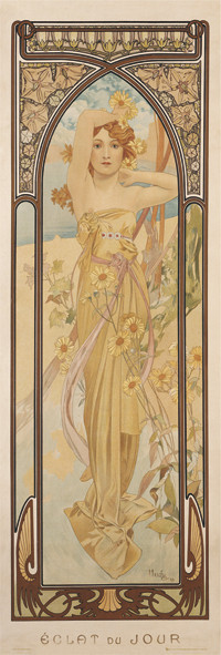 Juliste Alfons Mucha - clear day
