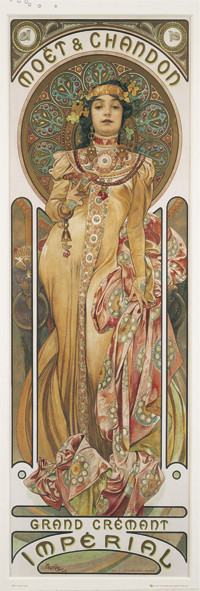 Juliste Alfons Mucha - moet & chandon