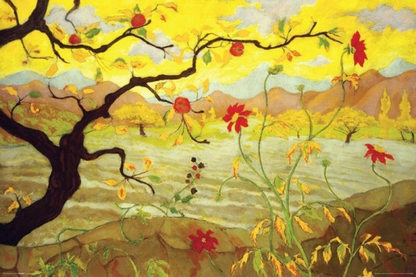 Juliste Apple Tree With Red Fruit - Paul Ranson