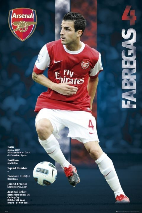 Juliste Arsenal - fabregas 2010/2011