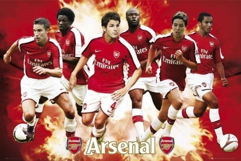 Juliste Arsenal - player compilation 08/09