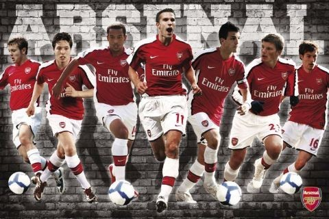 Juliste Arsenal - players 09/10