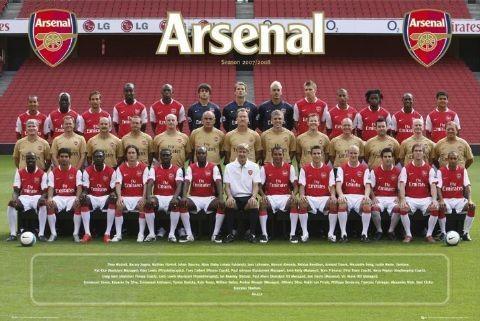 Juliste Arsenal - Team photo 07/08