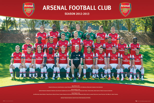 Juliste Arsenal - Team photo 12/13