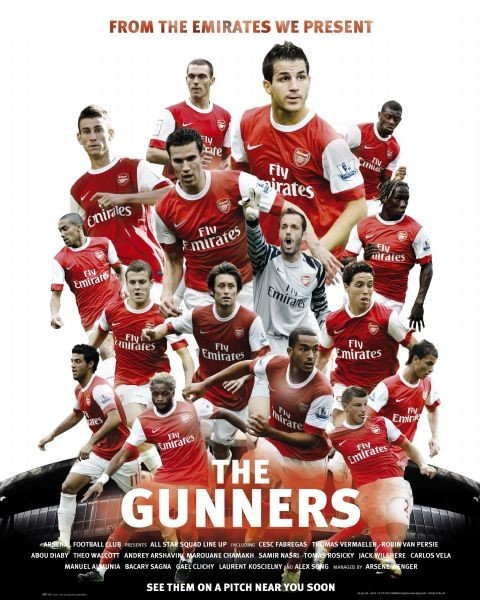 Juliste Arsenal - the gunners