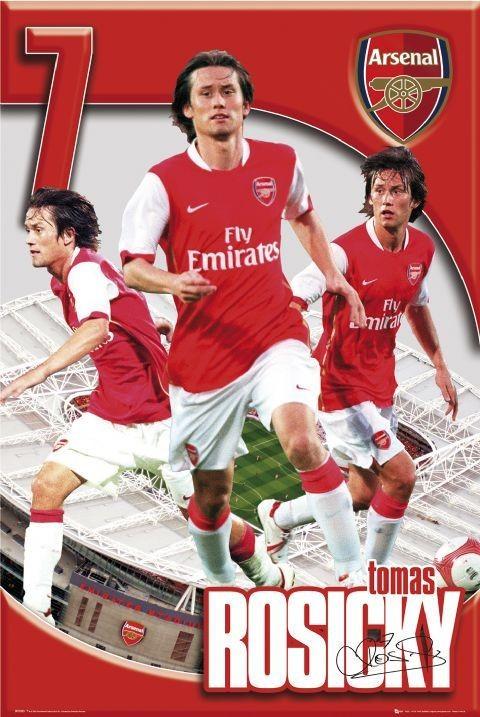 Juliste Arsenal - Tomáš Rosický 06/07