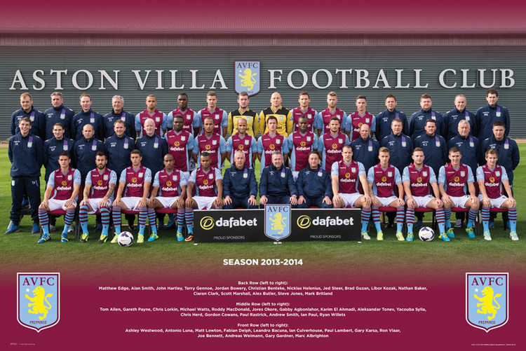 Juliste Aston Villa FC - Team Photo 13/14