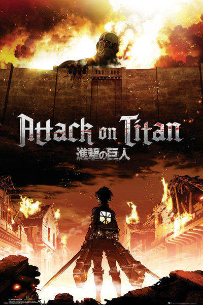 Juliste Attack on Titan (Shingeki no kyojin) - Key Art