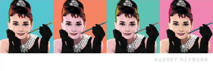 Juliste AUDREY HEPBURN - pop art 4