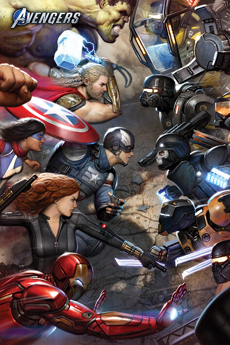 Juliste Avengers Gamerverse - Face Off