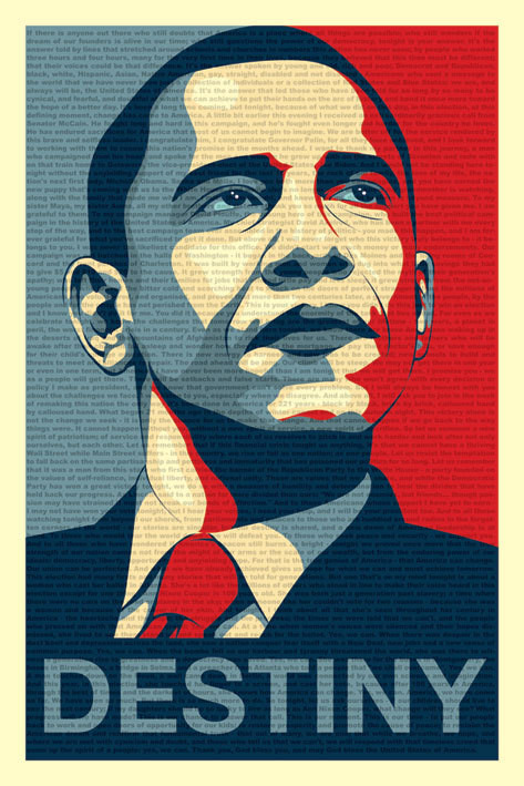 Juliste Barack Obama - fateful speech