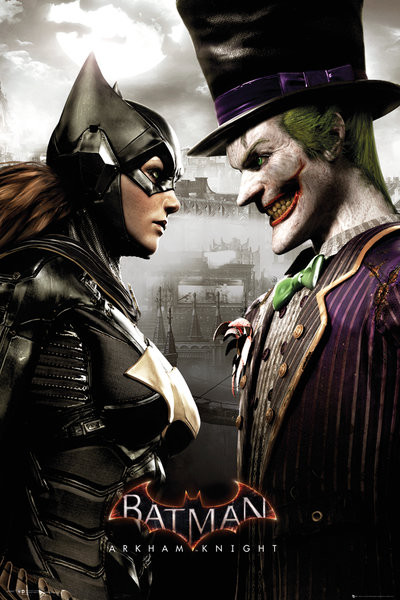 Juliste Batman Arkham Knight - Batgirl and Joker