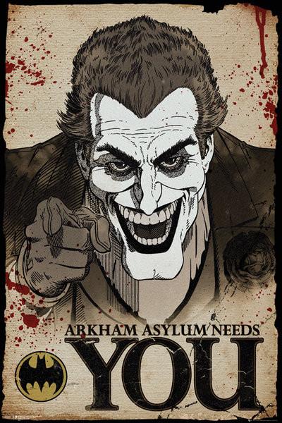 Juliste Batman Comic - Joker Needs You
