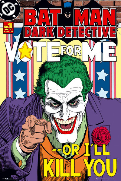 Juliste BATMAN - joker vote for me