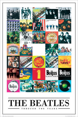 Juliste  Beatles - through the years