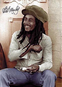 Juliste Bob Marley - rolling 2