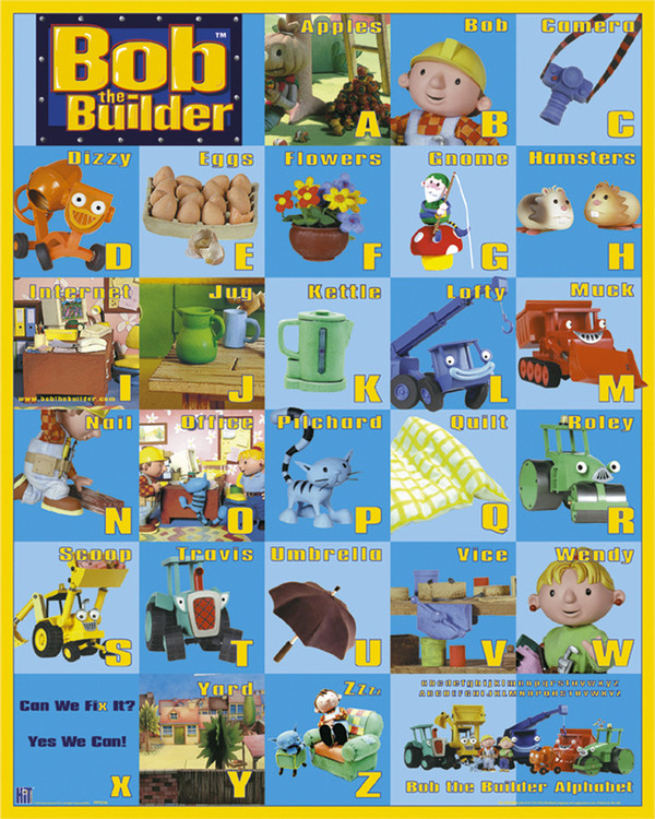 Juliste BOB THE BUILDER - A to Z