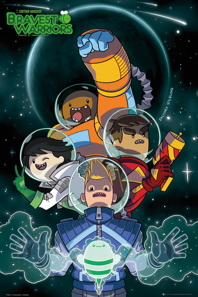 Juliste Bravest Warriors - Collage