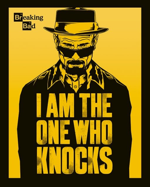 Juliste Breaking Bad - I Am The One Who Knocks
