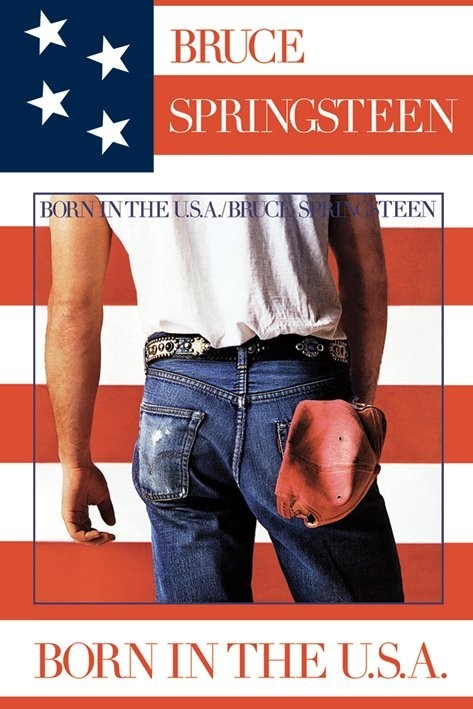 Juliste Bruce Springsteen - born in USA
