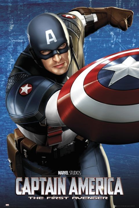 Juliste CAPTAIN AMERICA - shield