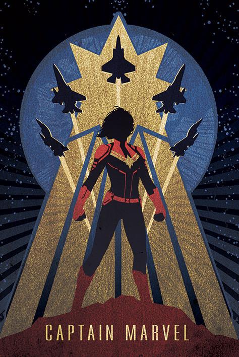 Juliste Captain Marvel - Deco