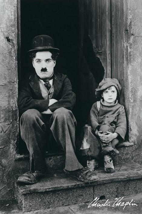 Juliste Charlie Chaplin - doorway