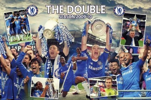 Juliste Chelsea - double winners