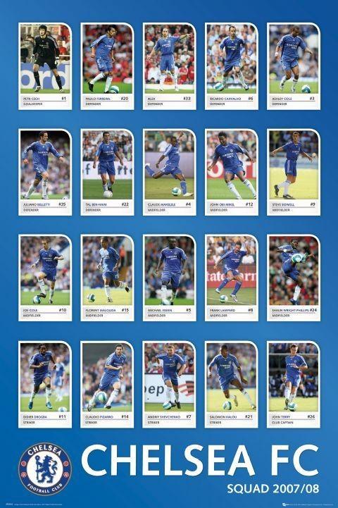 Juliste Chelsea - squad profiles 07/08
