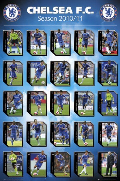 Juliste Chelsea - squad profiles 2010/2011