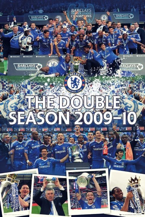 Juliste Chelsea - the double