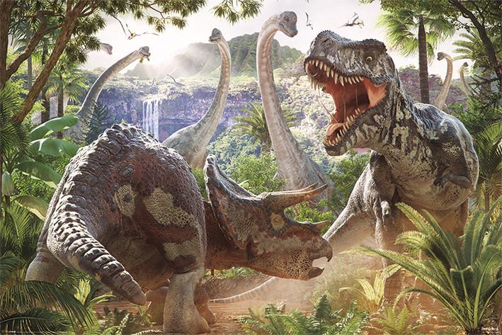 Juliste David Penfound - Dinosaur Battle