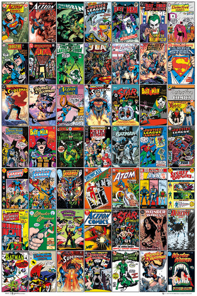 Juliste DC COMICS - comic covers